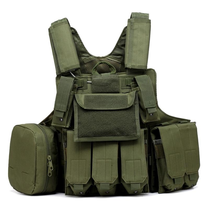 Armée vert/noir/ACU Airsoft Paintball chasse gilet Molle CIRAS tactique gilet W/Magazine poche utilitaire sac armure transporteur gilet