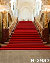 1.5X2M Photography Backdrop Red Blanket Stair Feature Background For Wedding Luxury Indoor Castle Decor Retro Photo Backdrops