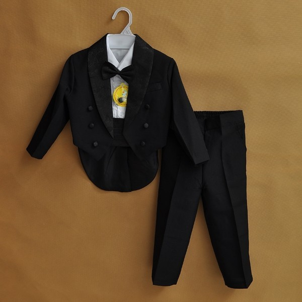 2018 Formal baby boy clothes wedding for suit party baptism christmas suits for 0-10T baby  suits wear white/black 5-Piece 2