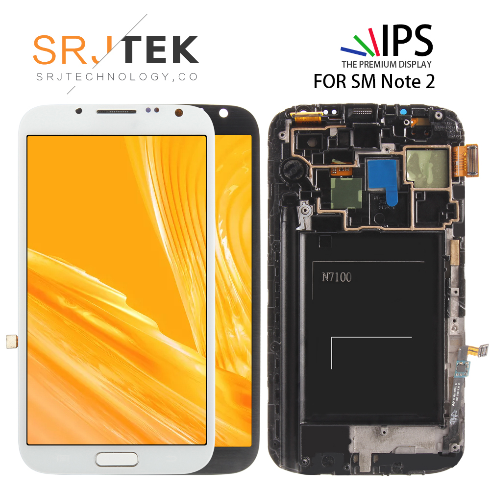Cellphones & Telecommunications 5.5 Amoled Lcd For Samsung Galaxy Note 2 Display Touch Screen For Samsung Galaxy Note Ii N7100 Digitizer Assembly With Frame
