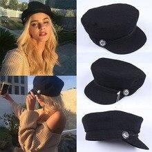 Military-Hats Patrol-Cap Cadet Newsboy Women Baker Wool-Blend Adjustable Girls Outdoors