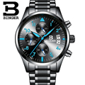 Chronograph Sport Watch 2016 Men Quartz Watch High Quality BINGER Luxury Brand Wristwatch Waterproof