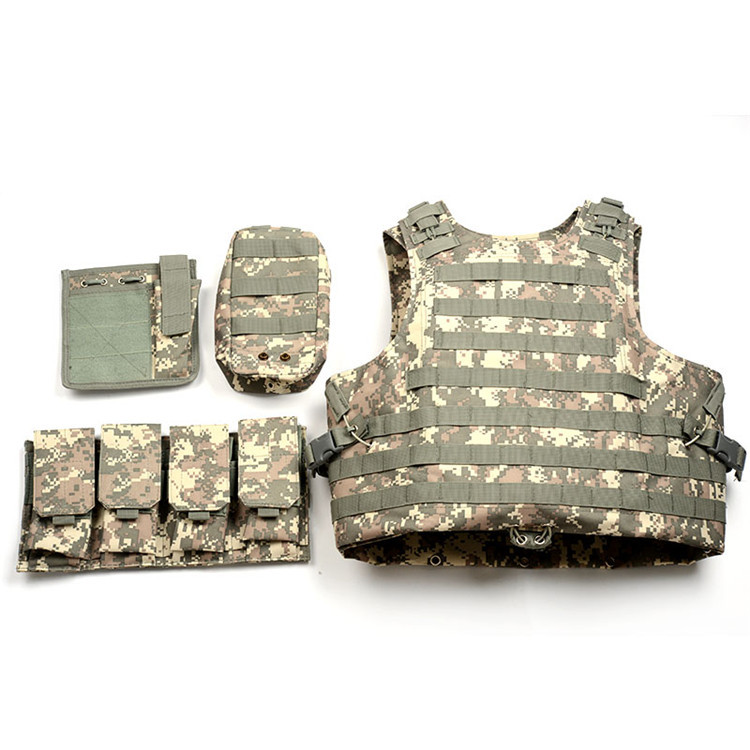 Camouflage Military Tactical Vest 800D Oxford Multi Function Molle Airsoft Paintball Vest US Army Military Security Uniform