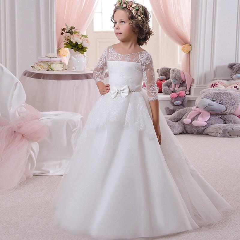 3/4 Sleeve   Flower     Girl     Dress   Communion   Dresses