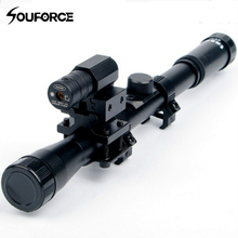 4×20 Airsoft Optics Scope with Red Laser Sight