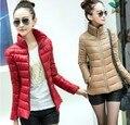 Chaqueta corta, invierno mujeres encienden mujer warm coat