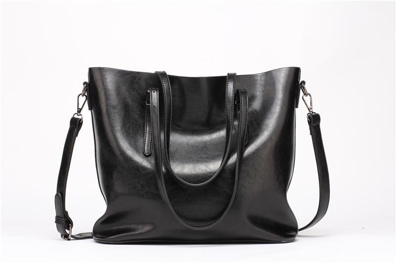 Women Tuff Leather Tote Handbag 5