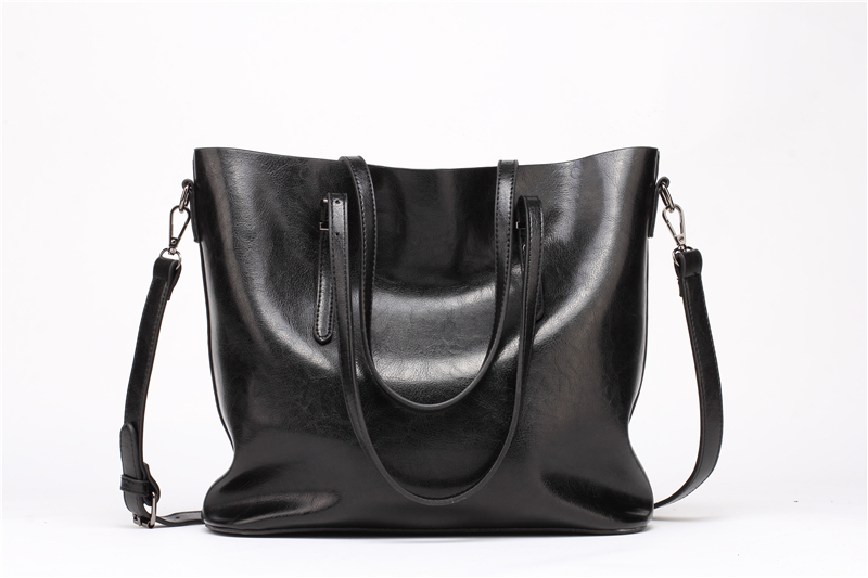 DIDA BEAR Brand Women Leather Handbags Lady Large Tote Bag Female Pu Shoulder Bags Bolsas Femininas Sac A Main Brown Black Red 6