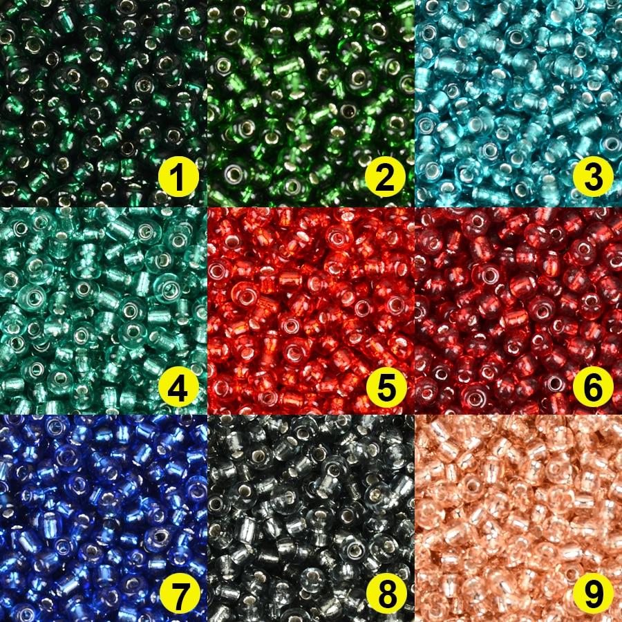 Approx.3MM Серебряная Подкладка стеклянные бусины для изготовления ювелирных изделий Kralen амулеты бусина прокладка бисер DIY SeedBeads Чешский 8/0 опто...