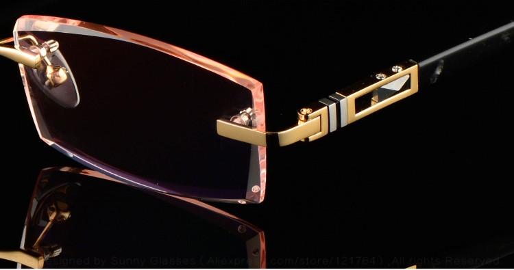 7720b1dbac Luxury Private Custom Titanium Eyeglasses Rimless Men 1.61 High ...