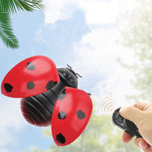 Children Tricky Toys Infrared Induction Electric Remote Control ladybug Toy Gift RC Animals Remote Control Toys(China)