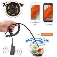 2m 5 5mm Waterproof IP67 WIFI Endoscope Borescope 6LED Snake Tube Inspection Camera Scope For Iphone