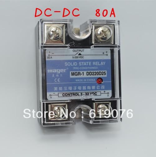 Mager  SSR 80A  DC-DC Solid state relay  Quality Goods  MGR-1 DD220D80 mager ssr 120a dc ac single solid state relay quality goods mgr 1 d48120 dc control ac
