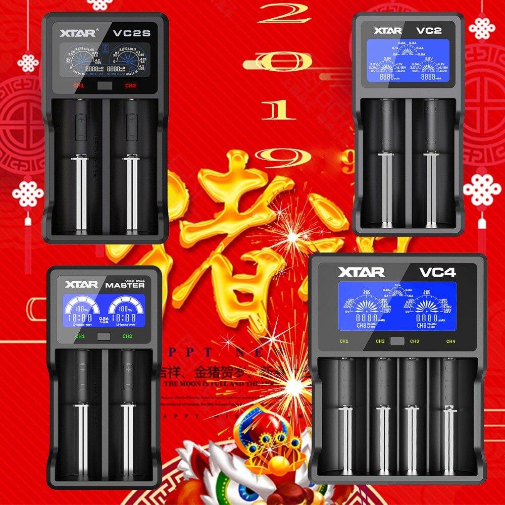 NEW XTAR VC2 VC2S VC4 VC4S  Colorful VA LCD Screen Micro-USB Powered Portable Apply To 3.6V/3.7V Li-ion/IMR/INR/ICR 18650 26650