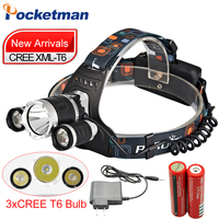 5000LM LED Headlamp CREE XML T6 4 Modes Rechargeable Headlight Head Lamp Spotlight For Hunting Charger
