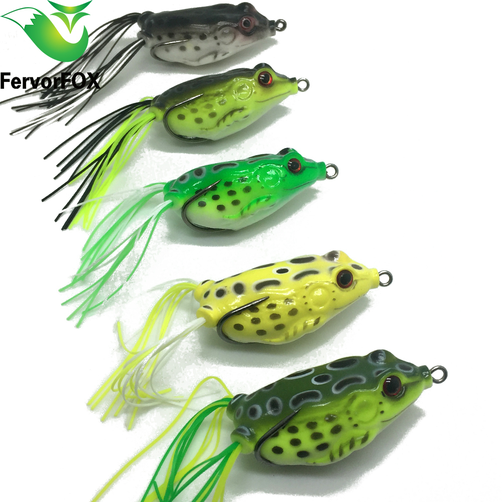 5 color 5pcs lot hot sale topwater frog hollow body soft for Frog lures for bass fishing