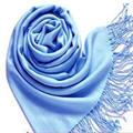Mujeres bufanda chal de Cachemira Pashmina chica pañuelo para el cuello de La Borla de La bufanda sólida lenco feminino foulard 7 colores del mantón 170*70 cm