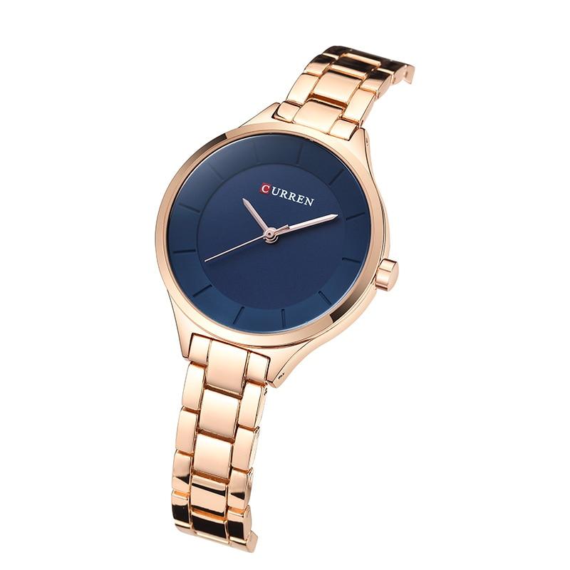 CURREN New Fashion Creative Women Watches Dress Ladies Bracelet Watch Rose Gold Female Clock Full Steel Wristwatch Gift