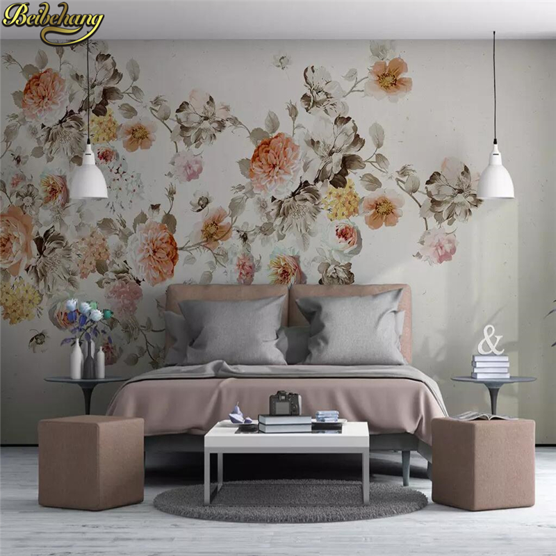 Big Cozy Living Room: Beibehang Flower Photo Wallpaper Large 3D Stereo Romantic