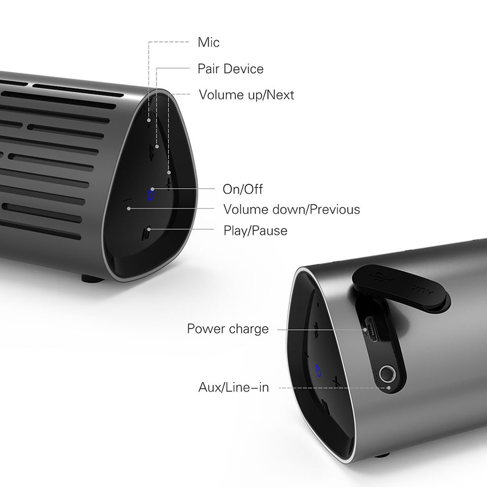 Meidong MD-2110 Mini Bluetooth Speaker Wireless With 10W Big Power 3D Stereo Music Speaker 9