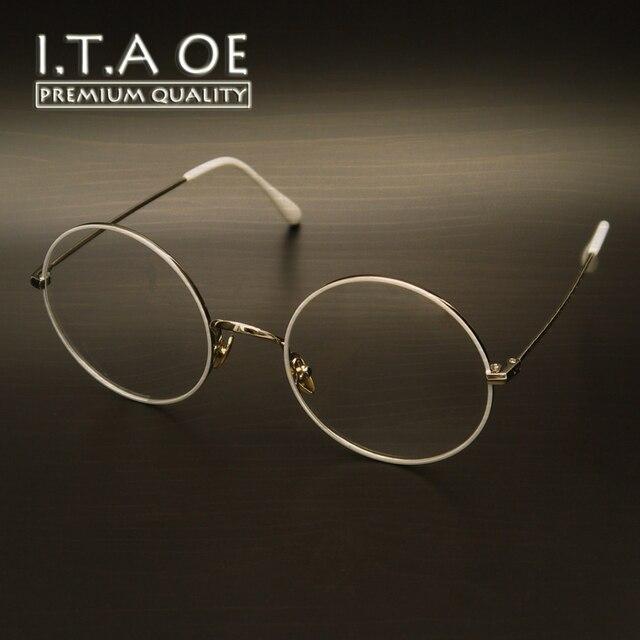 ITAOE K3 Большой Круглый По Всему Мода Стиль Сплава Женщины Женщина Леди Оптические Очки Кадры Очки Очки Близорукость Чтения