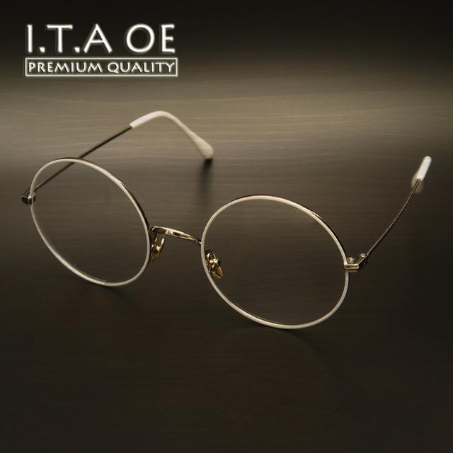 ITAOE K3 Grande Redonda Worldwide Fashion Estilo de Aleación de Mujeres Mujer Señora Eyewear Óptico Marcos Gafas Gafas Miopía gafas de Lectura