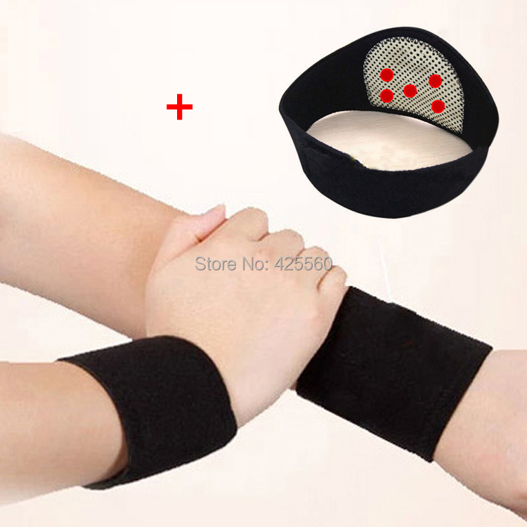 Tourmaline Self Heating Magnetic Therapy Neck Pad & Wrist Support