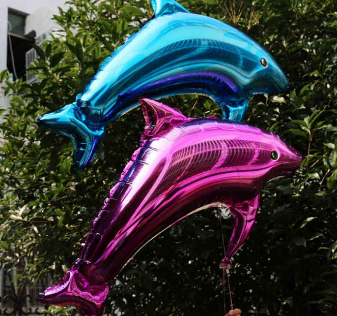 10pcs/lot Large Size 84X48cm Dolphin Foil Helium Balloon Birthday Party Wedding Decoration Supplies Kids Gift Favourite Toy