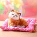 Aberto fechado os olhos do gato animal de brinquedo vai meowth gatos de estimação das crianças brinquedos de pelúcia presentes de aniversário Eletrônico Pet crianças dos miúdos é presentes