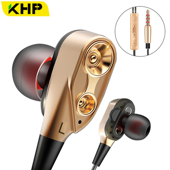 KHP Hifi Devices Earbuds Bass Earphone For Phone Gaming In Ear Headphones Sport Headset Earphones With Microphone Fone De Ouvido