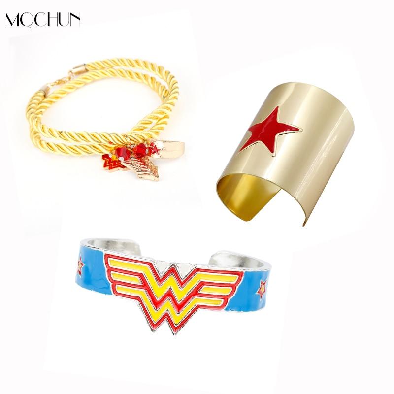 MQCHUN New Design Fashion Jewelry Wonder Women Bangles Bracelet Cosplay Party Accessory For Women Girls Children Christmas Gift
