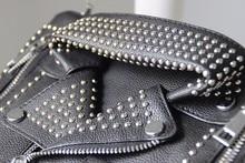 Stylish Leather Jacket Themed Handbag with Rivets