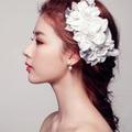 Adornos para el pelo de La Boda Accesorios Para el Cabello Hairwear Flor Del Tocado Del Pelo Floral Romántico de Encaje Headdres Joyería Z0479
