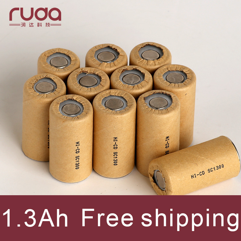 1300mAh 20Pcs Ni cd,high power battery cell,power tool battery,Power Cell,dicharge rate 10-15C.rechargeable battery