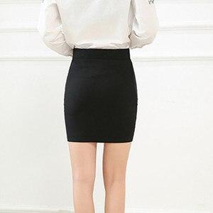 Image 3 - 新ファッション春オフィス基本スカートペンシルスカートハイウエストストレッチスカート