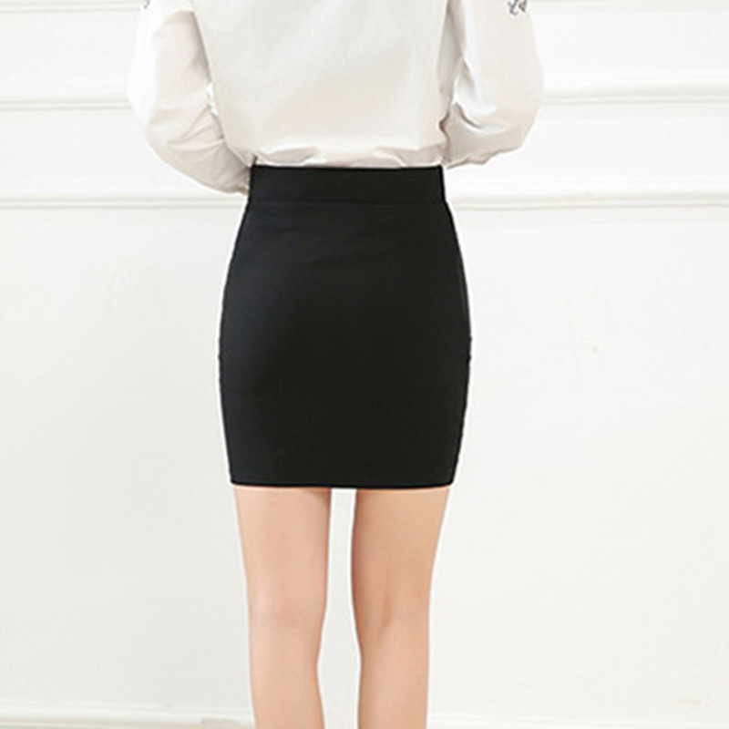 Image 3 - 2018 new Fashion Spring Office  Basic Skirts  Pencil Skirt High Waist  Stretchy Skirts-in Skirts from Women's Clothing