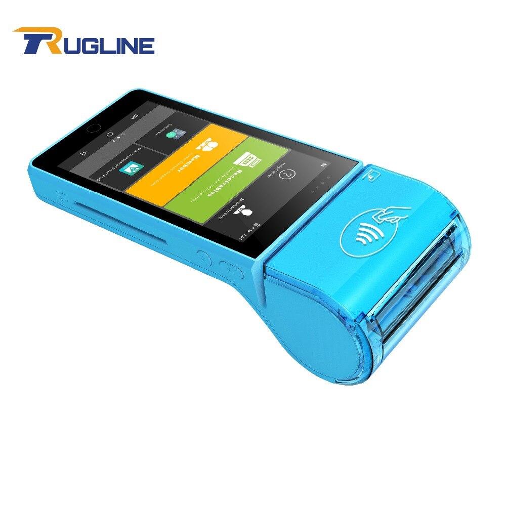 Écran tactile Affichage 4g WIFI Bluetooth IC Lecteur de Carte Magnétique Lecteur de Carte NFC Android POS Machine Avec Imprimante Thermique
