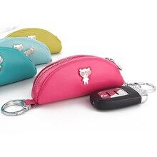 Véritable marque de cuir portefeuille clé avec anneaux conception originale cas pour porte-clés porta chaves clé sac MP279