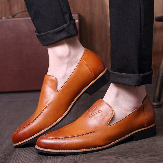 Mens business wedding dresses slip on cow leather shoes slip on fashion oxfords shoe breathable summer loafer zapatos hombre man