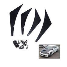 цена на 4 Pcs/Set Imitation Carbon Fiber  Front Bumper Lip Splitter Fins Body Spoiler Canards Refit Trim