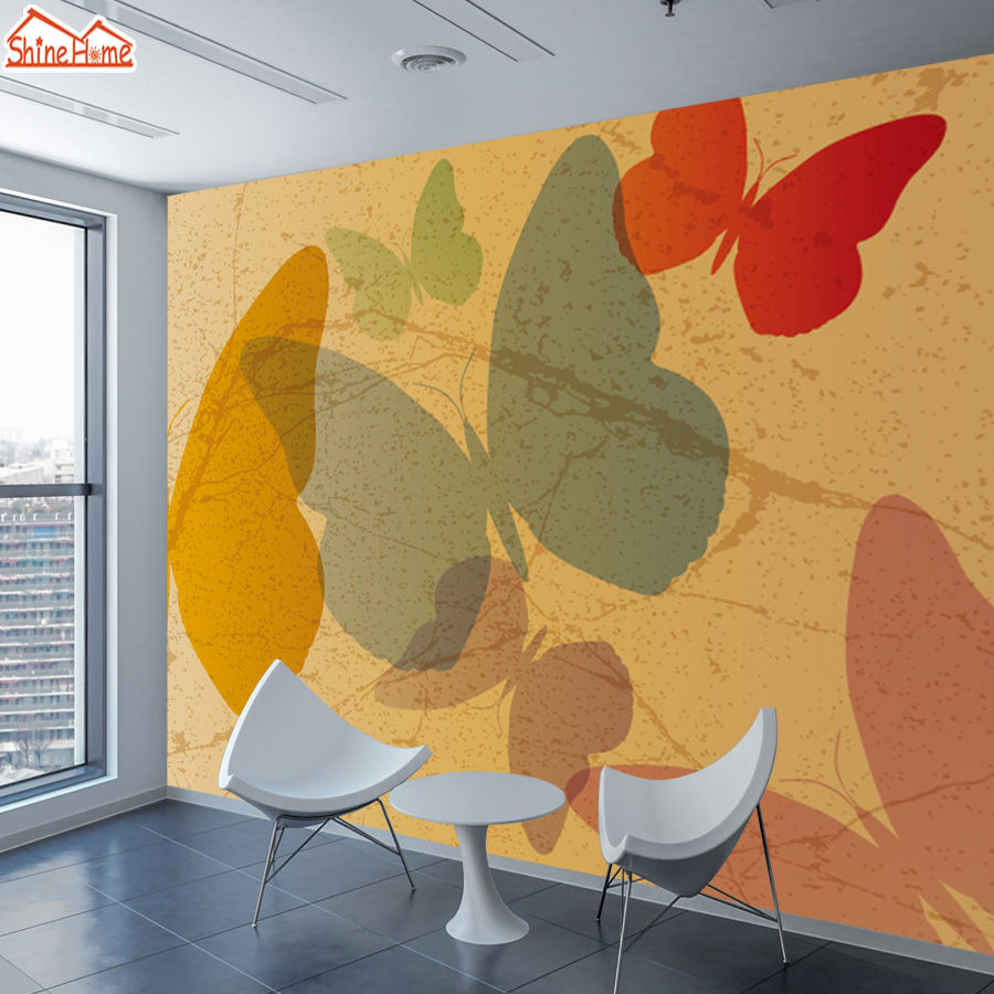 8d Silk Mural Wallpaper 3d Contact Wall Paper Papers Home Decor Wallpapers For Living Room Bedroom Self-adhesive Film Butterfly