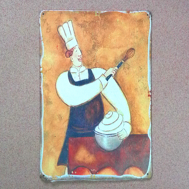 Metal tin signs Retro decor Vintage plaques CHEF kitchen poster wall art decor home bar cafe iron p[ates 20X30 CM Free ship
