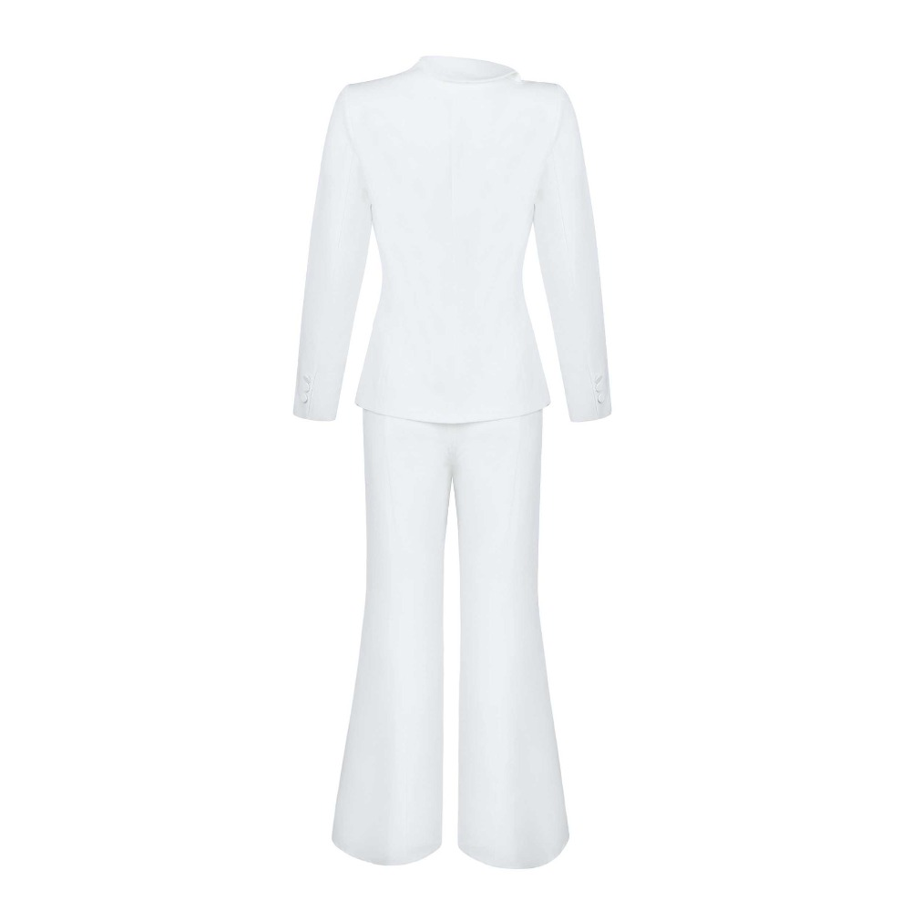 Deep V neck Flare Sleeve New Style fashion Vintage Pub OL sexy women Ankle Length Pants Suits celebrity body con wholesale in Women 39 s Sets from Women 39 s Clothing