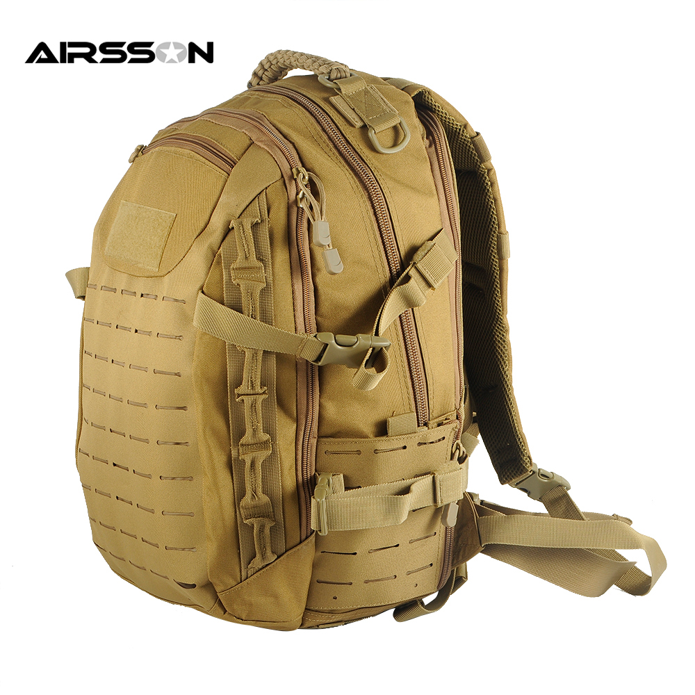 25L MOLLE Tactical Backpack Men Outdoor Hunting Bags Multifunctional Army Military Combat Bag Carrier emersongear lbt2649b hydration carrier for 1961ar molle backpack military tactical bags hunting bag multicam tropic arid black