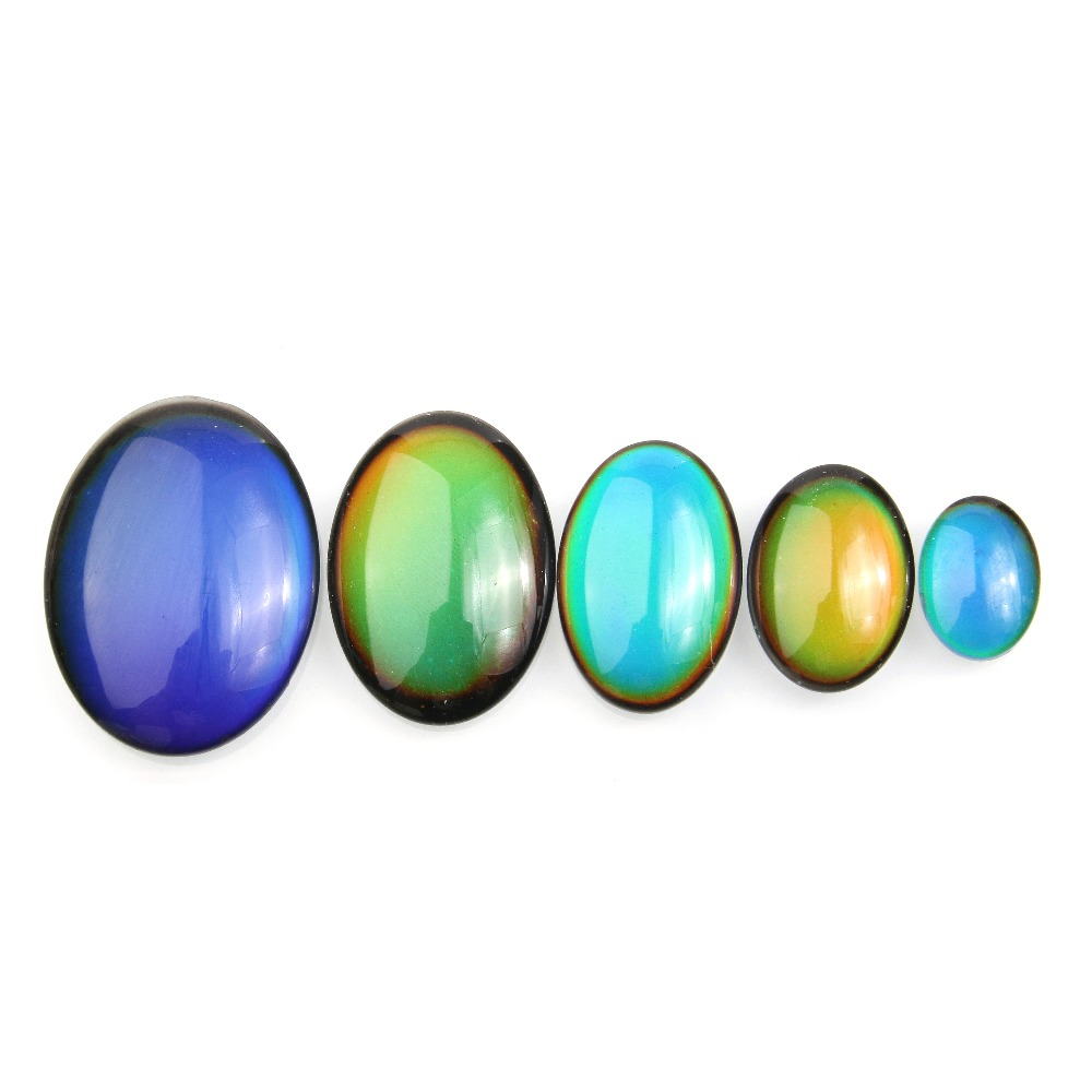 10pcs/bag Cabochon Color Change By Temperature 8x10 13X18 18X25 20X30 25X35 30X40mm Oval Shape For Making Jewelry DIY