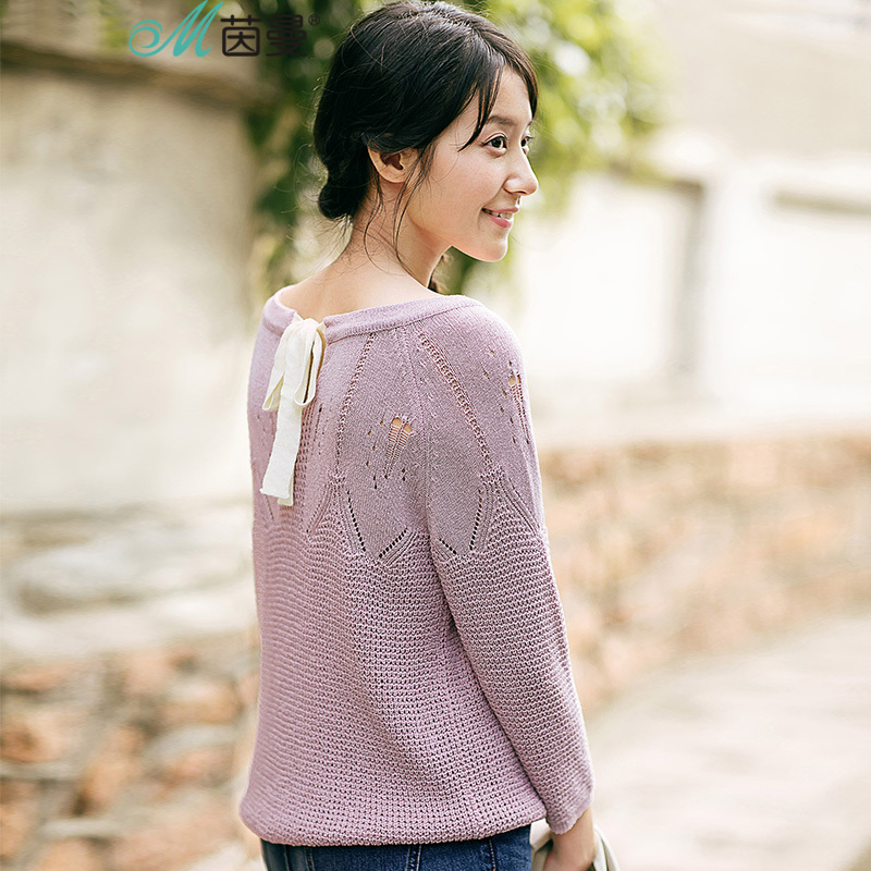 INMAN Women fall fashion art seven wool sweaters jacquard collar shirt sleeve