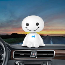 Car Ornament Cute Shaking Head Baymax Robot Doll Automotive Decoration Auto Interior Dashboard Bobble Head Toys Accessories(China)