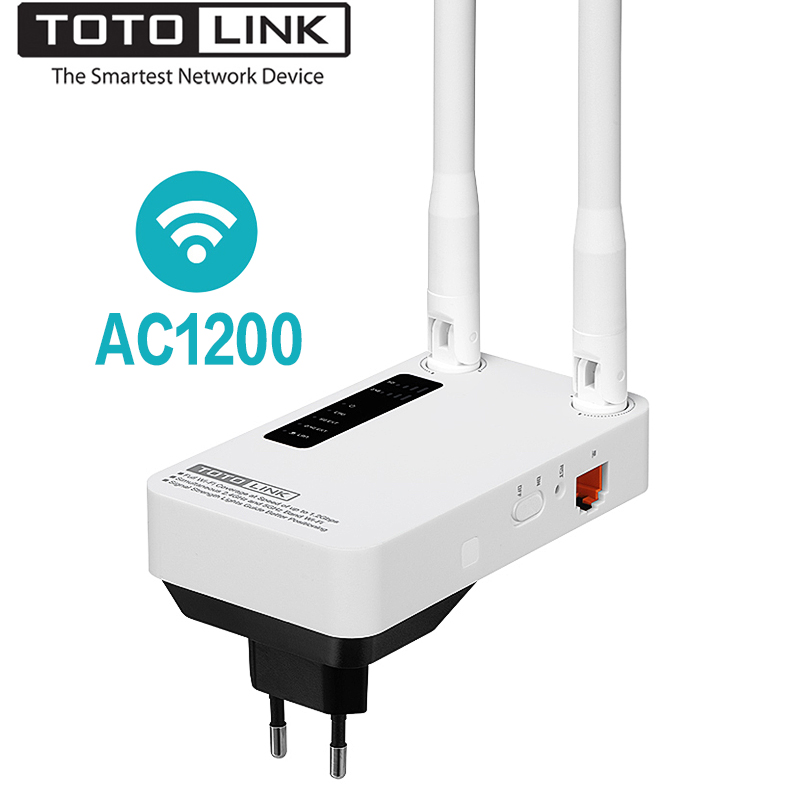 TOTOLINK EX1200M AC1200 Dual Band Wi-Fi Range Extender Stable Wireless Repeater, 2.4G/5.0GHz WiFi Extender/AP Mode, Easy Setup totolink ca750 750m dual band wireless потолок ap центр отель дом wifi полный охват