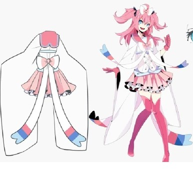 Pocket Monster Pokemon Sylveon Cosplay Costume Anime Custom
