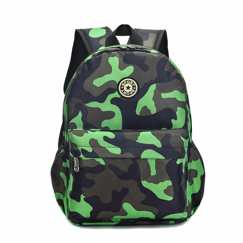 New Kids Backpacks Cartoon Camouflage Printed School Bags for Kindergarten Girls Boys Children travel Bags Nursery Bag small/big